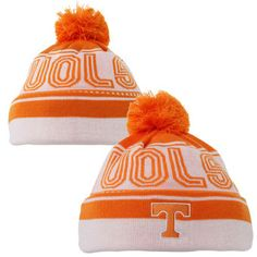 half off ecad2 67c6e adidas Tennessee Volunteers Orange Cuffed Beanie with Pom University Of  Tennessee, Knitted Hats, Snapback