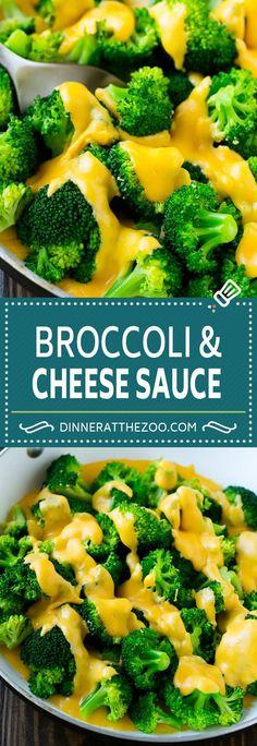 Broccoli with Cheese Sauce Recipe   Homemade Cheese Sauce   Broccoli Side Dish
