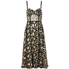 Women's Topshop Floral Corset Midi Dress ($230) ❤ liked on Polyvore featuring dresses, floral corset, brown corset, fancy dresses, transparent dress and floral dresses