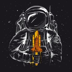 """Space Popscicle"" by Entar $17 #space #art #print"