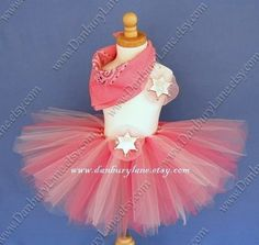Cowgirl Birthday Tutu set, Toddler girls Halloween Costume, western dress up, you choose size 2t, 3t, or 4t -PINK COWGIRL BALLERINA on Etsy, $39.95