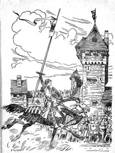 Tournoi - Le chevalier ménestrel Warrior 1, Illustrations, All Art, Concept Art, Images, History, Tournoi, Drawings, Artist