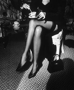Espresso & thigh highs.