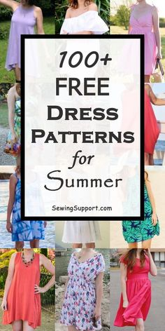 Free Summer Dress patterns for women. Lots of diy sewing projects and tutor… Free Summer Dress patterns for women. Lots of diy sewing projects and tutorials. Sew casual, sleeveless, maxi, long flowy styles, and more. Summer Dress Patterns, Dress Sewing Patterns, Sewing Patterns Free, Free Sewing, Summer Dresses, Free Pattern, Costume Patterns, Pattern Dress, Diy Sewing Projects