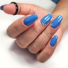 Blue Short Coffin Nails ❤ 30+ Outstanding Short Coffin Nails Design Ideas For All Tastes ❤ See more ideas on our blog!! #naildesignsjournal #nails #nailart #naildesigns #coffins #coffinnails #shortcoffinnails #coffinnailshapes