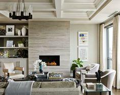 Modern Kamin Im Wohnzimmer Treppen