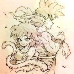 BARDOCK AND GINE ❤ Much shipping. Favorite ship of that entire series and Bardock was in what three episodes? Two of which might not even be canon? My love for him comes from the games mostly and how in every single game he's a playable character in, he's a complete monster.