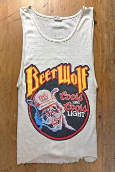 Vintage paper thin & distressed t shirts, muscle tees, and ribbed tank top undershirts from the and with added graphics, custom made to order in your size! Beer Shirts, Cool Shirts, Fresh Tops, Summer Outfits, Cute Outfits, Skater Style, Vintage Tees, Tank Tops, Tanks
