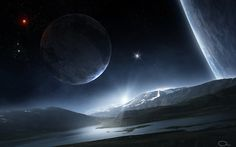 water, #art, #nature, #space, #planets, #stars, #river, #hills, #mountain, #satellite, #surface, #QAuZ. http://www.mindblowingpicture.com/wallpaper/space/wppjst28.html