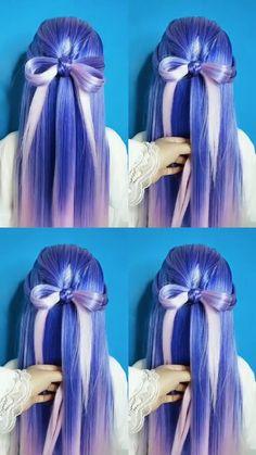 Kawaii Hairstyles, Easy Hairstyles For Long Hair, Braids For Long Hair, Braided Hairstyles, Hair Up Styles, Medium Hair Styles, Bridal Hair Tutorial, Long Hair Video, Maquillage Halloween