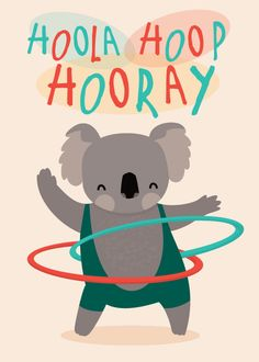 Hoola hoop hooray illustration by Lemon Lizzie