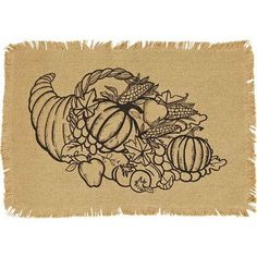 Give Thanks and use this great placemat for your Thanksgiving Day decor.