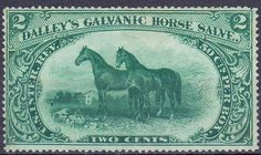 United States Revenue Stamp with horses.