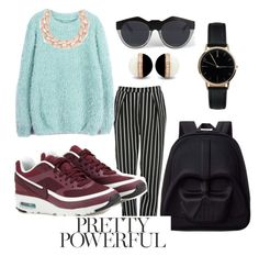 """""""casual look"""" by andreolam on Polyvore featuring Glamorous, NIKE, Loungefly, DIANA BROUSSARD, Le Specs and Freedom To Exist"""