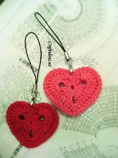 Patron para hacer un llavero con forma de corazon - Moldes Para Manualidades
