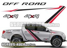 Mitsubishi L200 rally raid style graphics from street-race.org