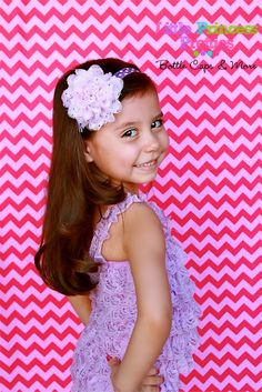 Lavender Dot Chiffon & Lace 4.5 inch Flower Headband Purple Polka Dot Teens Girls Infants Photo Prop - pinned by pin4etsy.com