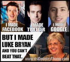 """Luke Bryan ♥ oh my yes. """"But I made Luke Bryan and you can't beat that! Country Singers, Country Music, Country Artists, Bae, Shake It For Me, Qoutes, Funny Quotes, Random Quotes, Make Facebook"""