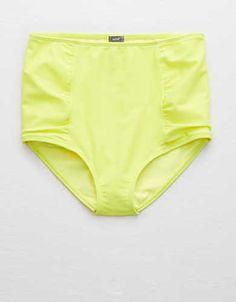 Aerie Hi-Rise Bikini Bottom , Lemon Lime Infusion | Aerie for American Eagle