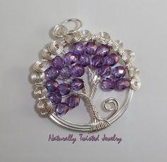 Amethyst+Czech+Glass+Tree+of+Life+Handmade+Wire+by+MaryOlczyk,+$25.00
