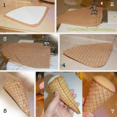 Steps for Making Ice Cream Cone Part 1