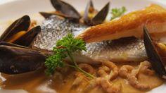 Zeebaarsfilet à l'Ostendaise - Recept | VTM Koken  (Seabass with Lobster Bisque) (Recipe in Dutch)