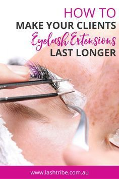 TOP 6 reasons why your retention might suck: If your room and your lash room are super humid, the faster the glue will set. If you work in a room that is totally humid and you�re not working fast enough to dip and get the lash on, then you will find that the client will most likely lose the lashes within the next two to four days. Click on the image for more tips! | How to Clean Your Eyelash Extensions | Lashes Care Tips