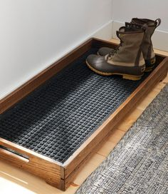 diy furniture Find the best Everyspace Recycled Waterhog Boot Mat at . Our high quality home goods are designed to help turn any space into an outdoor-inspired retreat. Home Organization, Organizing Ideas, Woodworking Organization, Sweet Home, Boot Tray, Furniture Ideas, Antique Furniture, Modern Furniture, Furniture Design