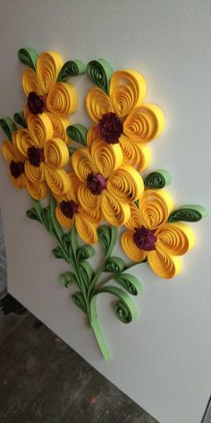 Your place to buy and sell all things handmade Paper Quilling Flowers, Paper Quilling Cards, Quilling Work, Paper Quilling Jewelry, Paper Quilling Patterns, Origami And Quilling, Quilled Paper Art, Paper Flowers Craft, Quilling Paper Craft