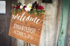 Personalized Wedding Welcome sign with names and by dressingroom5