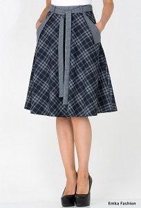 Клетчатая юбка Emka Fashion 407-illuzia