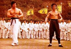 Bruce Lee and bolo yeung Judo Karate, Kenpo Karate, Bolo Yeung, Girl Dj, Bruce Lee Martial Arts, Bruce Lee Photos, Jeet Kune Do, Brandon Lee, Enter The Dragon
