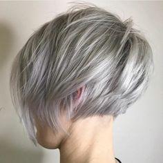 Short Layered Haircuts, Short Hairstyles For Thick Hair, Haircut For Thick Hair, Curly Hair Styles, Quick Hairstyles, Bob Haircuts, Hairstyles Haircuts, Thick Short Hair Cuts, Long Pixie Cuts