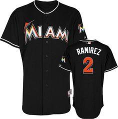 miami marlins hanley ramirez 2 black authentic jersey sale ae7279261