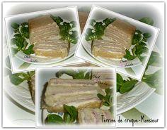Terrine croque monsieur Chez Vanda, Le Diner, Entrees, Steak, Pork, Beef, Quiche, Silhouette, Dinner