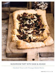 mushroom tart w/ sage and asiago - Yum!
