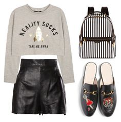 """""""Untitled #524"""" by stevie-pumpkin ❤ liked on Polyvore featuring Moschino, Gucci and Henri Bendel"""
