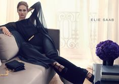 elie saab aw ads1 Karmen Pedaru Stars in Elie Saab Fall 2013 Campaign by Craig McDean
