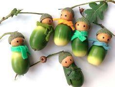 Foto: Klasse Bastel Idee mit Eicheln. Herbst Deko mit den Kindern basteln. Veröffentlicht von GrossstadtKind auf Spaaz.de