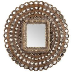 Golden Medallions Mirror - Home Decor Ideas