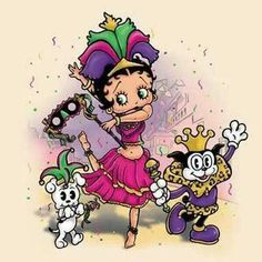 Image result for betty boop mardi gras