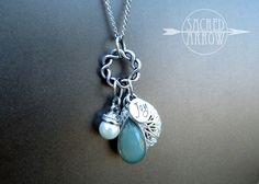 """18"""" Silver """"Joy"""" Mixed Charm Diffuser Necklace - wish this design came in a 24"""" or 30""""."""