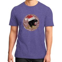District T-Shirt (on man) - Merry Panther Christmas