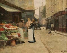 The Flower Shop ~ Victor Gabriel Gilbert ~ (French: 1847-1933)