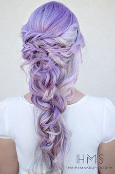 21 Lavender Hair Looks That Will Make You Grab Hair Dye Immediately - Hair - Hair Hair Color 2017, Cotton Candy Hair, Lavender Hair, Lavender Color, Wedding Hairstyles For Long Hair, Braided Hairstyles, Latest Hairstyles, Short Hair, Hairstyle Wedding