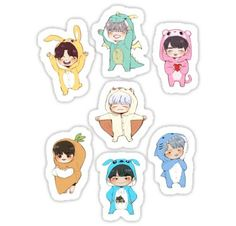 Bts stickers featuring millions of original designs created by independent artists. Pop Stickers, Tumblr Stickers, Printable Stickers, Bts Chibi, Bts 4th Muster, Kpop Diy, Bts Merch, Bts Drawings, Aesthetic Stickers