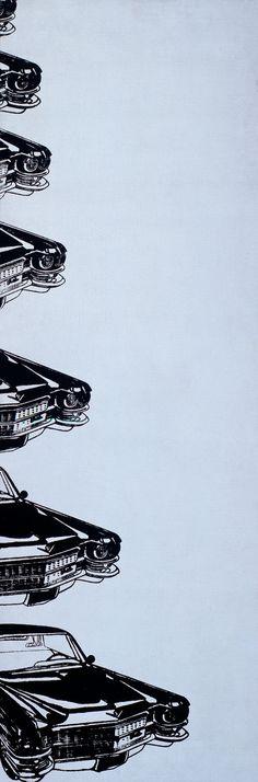 seven cadillacs - 1962 - andy warhol - silkscreen ink on linen