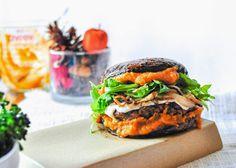Minty Anne: Pumpkin Craze: Vegan Portobello Mushroom Burger (Gluten Free)