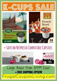 WIN 4 Boxes of K-Cups - Also Save on K-Cups $.42 each and Capsules $.49 each