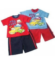 'Big City' Shorts Set £9.00 Sizes 6-12m, 12-18m and 18-24m  Purchase here http://grubby-hands.myshopify.com/?afmc=d